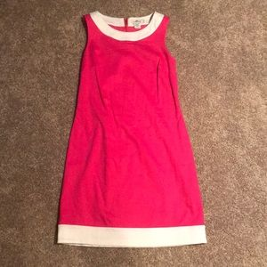 Vineyard Vines Pink and White Shift Dress
